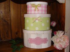 Schachtel Set Shabby chic Box Tilda Karo & Dots