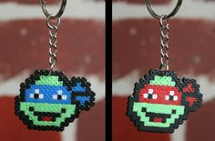 Teenage Mutant Ninja Turtles Perler Bead Sprite Keychain