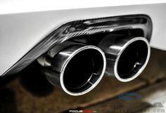 California Pony Cars Focus Carbon Fiber Exhaust Trim Cover (12-15 All) photo courtesy of focusrush.com