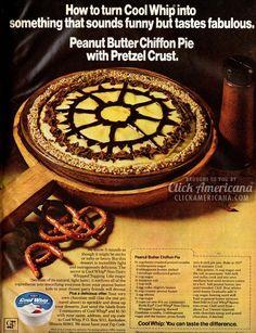 Peanut Butter Chiffon Pie with Pretzel Crust (1972) - Click Americana