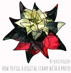 Here's a quick and easy way to add color to your digital stamps - try filling the image with a photo! Digi Stamps, Photo Tutorial, Bowser, New Look, Clip Art, Rubber Stamping, Templates, Digital, Fill