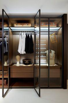 Porro - Salone del Mobile 2013 'storage' walk-in closet systems by Piero Lissoni.