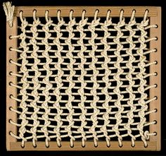 Dorothy Cavalier Yanik. Frame and knotting exercise. Pre-weaving structure from Anni Albers's class, 1960.