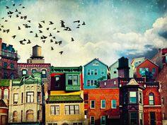 Tim Jarosz heeft met zijn collageserie Cityscapes delen van zijn woonplaats Chicago – die door menigeen niet als bijster mooie plekken worden beschouwd – op een kunstzinnige en levendige manier weten te portretteren. Shop: society6.com/TimJarosz