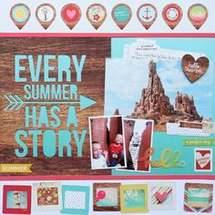 Every Summer Has a Story **Simple Stories** - Scrapbook.com - Made with Simple Stories Good Day Sunshine collection.