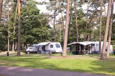 Heerlijk kamperen tussen de bomen.