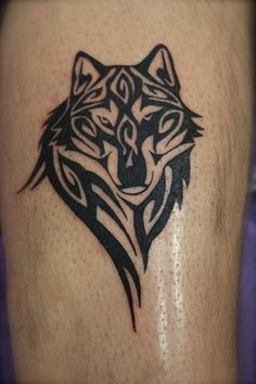 tribal wolf tattoo shoulder - Google Search