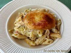 Pasta al forno zucchine e scamorza