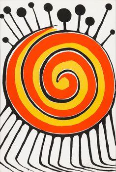 For Sale on - Les Rubans, Lithograph by Alexander Calder. Alexander Calder, Abstract Sculpture, Sculpture Art, Abstract Art, Sculptures, Spirals In Nature, Found Object Art, Jean Arp, Mid Century Art