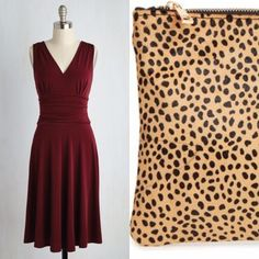 Seriously Gorgeous  Any big events coming up in your future? It's that time of year when the social season is in high gear. How do you like this look? A fit and flare easy to wear red dress with a killer leopard clutch is so elegant yet fun and fresh. This combo gets my vote! ~ Cathy http://www.asburylanestyle.com/ #ceduxiondress #fitandflare #solesocietyclutch #asburylanestyle