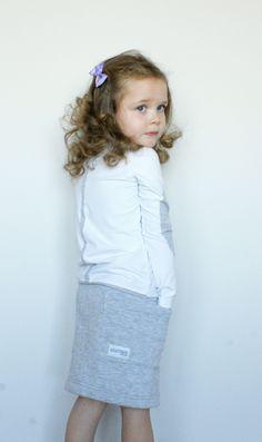 navy grey skirt www.gugamarie.pl
