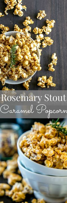 Rosemary-Stout Salted Caramel Popcorn | Vanilla And Bean