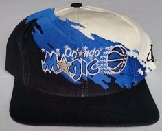 Orlando Magic Snapback Vintage Logo Athletic Splash Hat NBA Rare Starter Cap Orlando Magic, Snapback Hats, Old School, Nba, Baseball Hats, Athletic, Logo, Vintage, Products