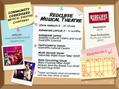 Redcliffe Musical Theatre - Community Corkboard interview on amywinner.com Musical Theatre Shows, Saturday Night Show, Theatre Auditions, Theatre Group, Educational Programs, Sound Of Music, Musicals, Encouragement, Interview