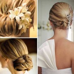 Wedding Hairstyle with Flowers for Spring Nuptials