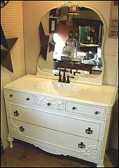 antique bathroom vanity choose genuine or dresser ideas for rooms in my home pinterest bathroom vanities - Antique Bathroom Vanity