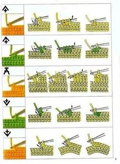 Horgolás jelek értelmezése Crochet Symbols, Crochet Chart, Crochet Motif, Crochet Stitches, Knit Crochet, Stitch Box, Crochet For Beginners, Beginner Crochet, Crochet Tutorials