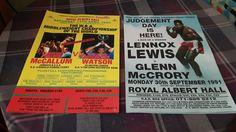 Original boxing posters