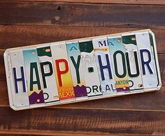 Happy Hour License Plate