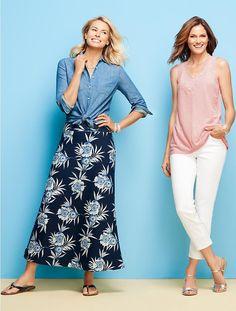 Maxi Skirt - Bali Tropical Flowers - Talbots - SB May 2016