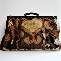 kilim carpet bag 1970s vintage