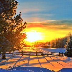 Winter sunset, Alberta, Canada. Photo courtesy of mthiessen on Instagram.
