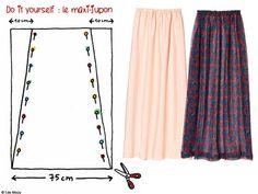 MAXI JUPE : plusieurs modèles facile à faire Bettinael.Passion.Couture.Made in france