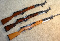Chinese Type 56, Russian SKS-45, and Yugoslavian PAP M59/66A1