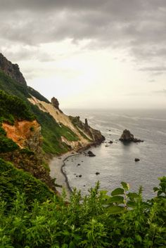 Otaru coastline, Hokkaido, Japan.