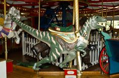 T-Rex Carousel Animal - Patee Museum-Never saw one of these on my carousels!