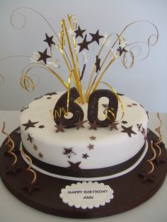 Cake 60th Birthday Warm Browns And Creams For A Ladies By Me