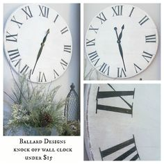 Hymns and Verses: Knock Off Ballard Designs Wall Clock for under $15--link for purchasing the hands and movement {cheap}