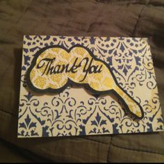 Alpha Xi Delta inspired thank you note!