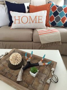 As we squeeze out the last few days of Summer transition your HOME Decor into Fall by adding warm colors, rich textures, and wood tones. Mix your tans, grays and navy with with deep turquoise and burnt oranges. Decorative accent pillows, throws and wood accessories can be found all around your HomeGoods Store. Sponsored Happy By Design Post.