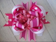 How to make hair bows out of ribbon - Cute hair bows for girls - YouTube