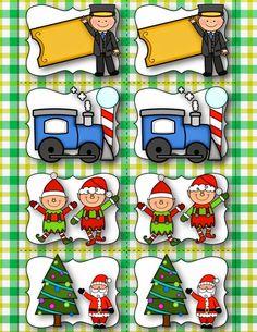 FREE:  Polar Express Memory Game with Comprehension.  TeacherKarma.com