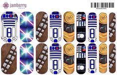 I didn't make these but I know customers that would like them Star Wars (2) inspired Jamberry Nail Wraps | Nail Art Studio....make your own