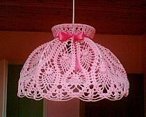 How to make a lamp yourself: ideas and photos - Do you want to transform your interior, adding to it the notes of originality and modernity? It's time to learn about how to make a lamp with your own hands, Lampe Crochet, Crochet Lampshade, Make A Lamp, I Love Lamp, Lamp Shades, Light Shades, Household Items, Doilies, Crochet Projects