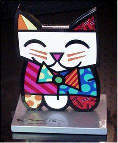"""Romero Britto""""Squeaki"""" Aluminum Sculpture 8.75"""""""