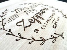 Personalized Cutting Board Wedding Gift by DarkHorseEngraving