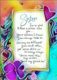 Top & Dear Little Sister Quotes Birthday Greetings For Sister, Happy Birthday Wishes Cards, Sister Birthday Quotes, Happy Birthday Sister, Birthday Messages, Birthday Images, 50th Birthday, Happy Mothers Day Sister, Birthday Verses