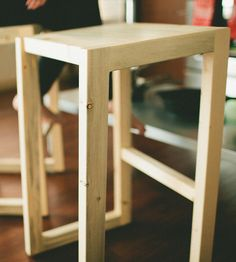 Cameron Pine Bar Stool By The Azure Furniture Co. On Scoutmob