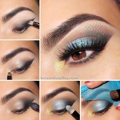 """""""Mermaid Eyes"""" - #eyemakeup #makeup #eyeshadow #eyes #makeuptutorial - bellashoot.com"""