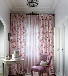 Cottage Curtains, Home Curtains, Curtains Living, Rugs In Living Room, Living Room Decor, Bedroom Decor, Rideaux Design, Turquoise Kitchen Decor, Home Design