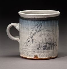 Throw a simple shape. Add Handle. Let glazing be the the wow factor. Jane Shellenbarger Ceramics - Cup