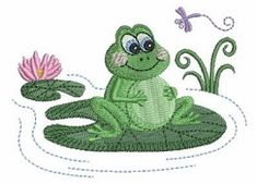 Cute Frogs 7 - 4x4 | What's New | Machine Embroidery Designs | SWAKembroidery.com Ace Points Embroidery