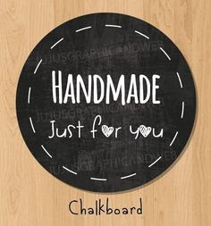 """24 Pack of """"Handmade just for you"""" Label Stickers Personalized Labels, Custom Labels, Homemade Crafts, Diy Crafts To Sell, Baking Packaging, Quilt Labels, Graphic Design Print, Sticker Design, Things To Sell"""