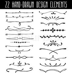 Illustration about Set of hand-drawn line border dividers and design element. Illustration of line, painting, elegant - 53432962 Border Design, Line Design, Hand And Finger Tattoos, Drawing Borders, Line Border, Drawing Frames, Borders And Frames, Doodle Designs, Step By Step Drawing