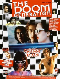 "MP198. ""The Doom Generation"" French Movie Poster by Benjamin Baltimore (Gregg Araki 1995) / #Movieposter"