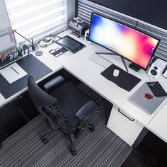 Ultrawide desk setup by @markjardine minimal setup @minimalsetups
